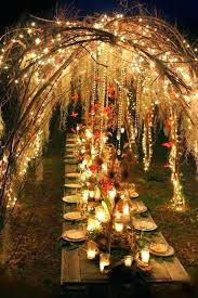 Fall Tree Decorations Unique Rustic Wedding Ideas Branch Arch Twinkle Lights Outdoor