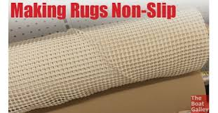 non slip rugs the boat galley