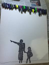 Once That Is Done Stick The Crayon Pieces At Top Of Canvas Using A Normal Adhesive Do Not Use Industrial Strong