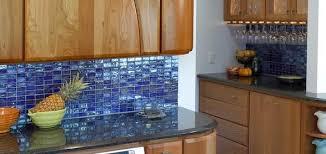 excellent image of blue glass tile backsplash kitchen blue tile