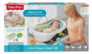 Puj Baby Portable Bathtub by Amazon Com Fisher Price 4 In 1 Sling N Seat Tub Multi Color