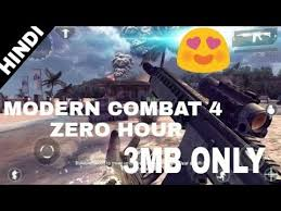 highly compressed only 3 mb modern combat 4 zero hour free