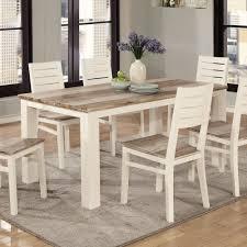 Lifestyle C347 Two Tone Wood Finish Rectangle Dining Table