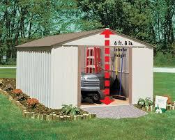 Arrow Galvanized Steel Storage Shed by Resin Sears Storage Sheds With Arrow Mid Gable Storage Building