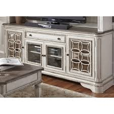 Sauder Harbor View Dresser Antiqued White Finish by Tv Stands U0026 70 Tv Stand Rc Willey Furniture Store