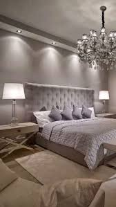 Luxury Bedroom Design Chandelier White Table Lamp Silver Bed Modern Master