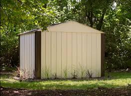 arrow galvanized steel storage shed 10x8 arrow designer series steel storage shed 10 x 8