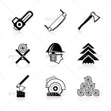 Woodworking Icon Set