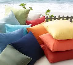 sunbrella solid indoor outdoor pillow pottery barn