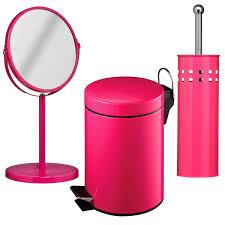 new premier hot pink 3 litre bathroom pedal bin toilet brush