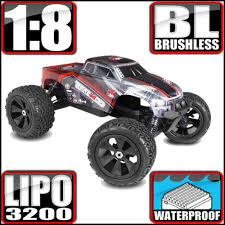 100 Biggest Monster Truck NEW Terremoto V2 18 Scale Brushless Electric Dual Lipo Red