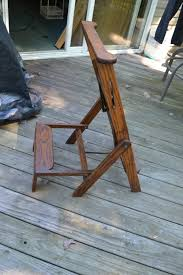 Vtg Antique Wood Folding Library Chair And 50 Similar Items