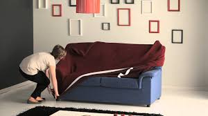 Sure Fit Sofa Covers Uk by How To Put A Stretch Sofa Cover Easily Youtube