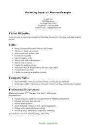 Regular Marketing Skills Cv Resume Sample Communication Exampl 6427