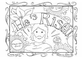 Religious Easter Coloring Pages For Children Archives At