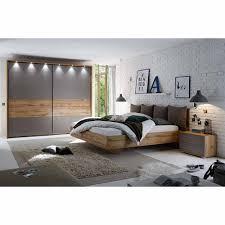 schlafzimmerset in grau wildeiche komplett 4 teilig