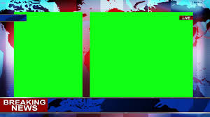 News Background Green Screen 1080p Royalty Free