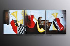 Abstract Oil Painting Dining Room Paintings Wall Decor La 3 Pcs Sales Art Contemporary Modern