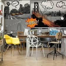 details zu tapete vlies fototapete für wohnzimmer comic stadt