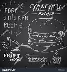 Chalk Illustration Menu Burger Stock Vector (Royalty Free) 179576453 ...