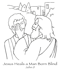 New Coloring Page Jesus Heals A Man Born Blind John 9 Href Http