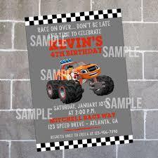 Monster Trucks Birthday Party Truck Jam Ideas Supplies Envelopes ...