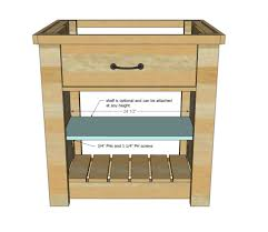 Kitchen Islands Ana White Island Rustic X Small Rolling Diy Projects How To Make Mobile