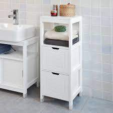sobuy frg127 w badkommode badschrank mit fußpolster kommode badezimmer weiß