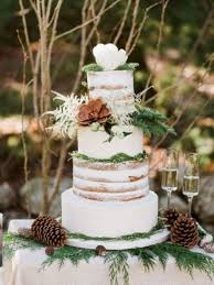 Simple Rustic Winter Wedding Cakes Ideas 50