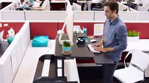 Dual Monitor Standing Desk Attachment by Adjustable Standing Desk Varidesk Pro Plus 36 Standing Desks
