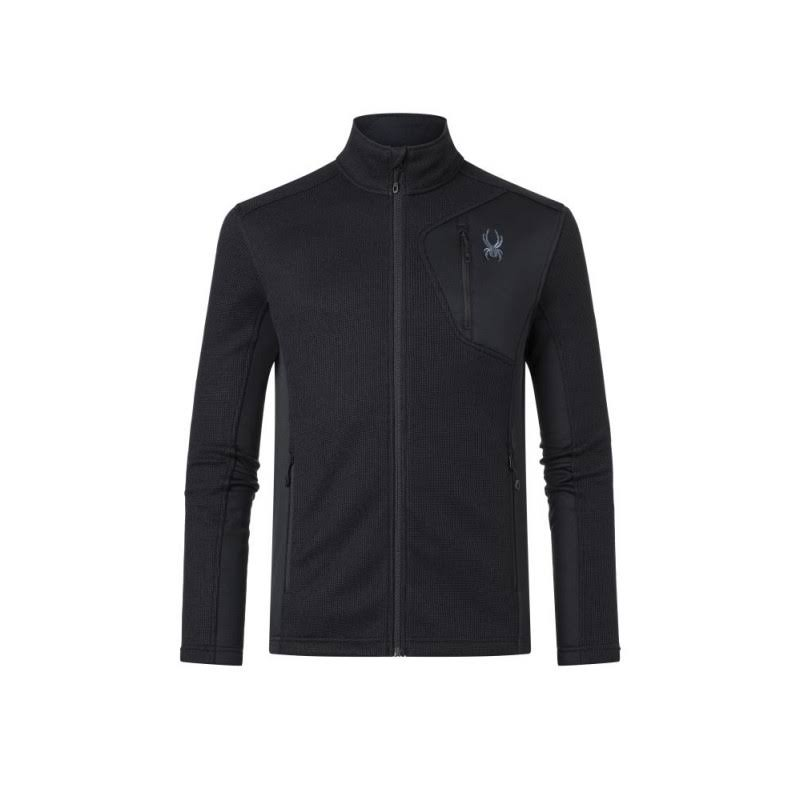 Spyder Men's Bandit Full Zip Jacket - Large - Black Black