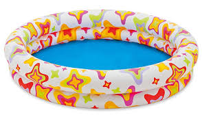 48 X 10 Inflatable Stars Kiddie 2 Ring Circles Swimming Pool By Intex