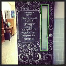 Christmas Classroom Door Decorations On Pinterest by Chalkboard Classroom Door Teacher Of The Year Material