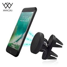 New Universal Mobile Holder Dual Clips Air Vent Magnetic Phone Car