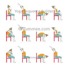 Sun Salutation Variation Sitting On Chair Yoga Surya Namaskar