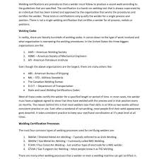 Welder Experience Certificate Format Doc Copy Image Resume