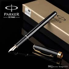 2018 Parker Sonnet Fountain Pen Silver Golden Clip Business Full Metal Writing Stationery Office Supplies From Kengo1001 271
