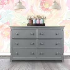 Toys R Us Baby Dressers by Eco Chic Baby Kennedy 6 Drawer Double Dresser Twilight Gray