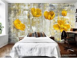 Yellow Flower Photo Wallpapers Murals Living Room Bedroom Wall Art Home Decor Painting Papier Peint 3d Floral Paper Wallpaper Hd