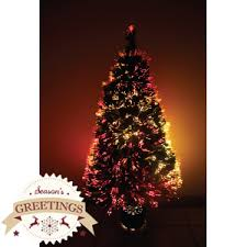 buy season s greetings 4ft multicolour lights fibre optic tree at