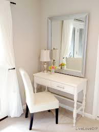 Small Desk Ideas Diy by Thrift Store Desk Turned Bedroom Vanity Table Seen Here