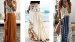 We Have Already Talked About Long Flowy Material Adding To The Bohemian Look When It Comes Skirts This Idea Can Be Beautifully Translated Into
