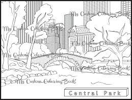 Instantly Download A Coloring Page Of Beautiful Central Park Located In The Heart New