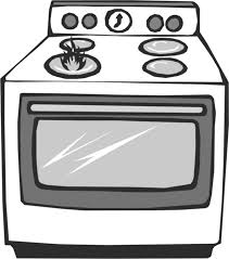 Oven Black And White Clipart