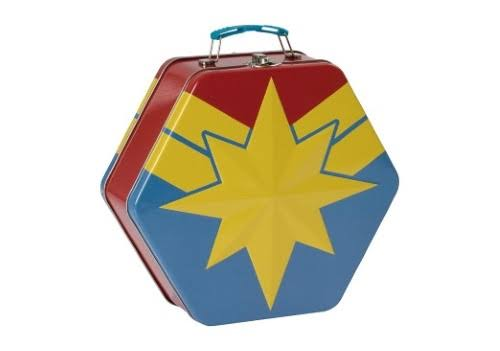 Vandor Captain Marvel Badge Shaped Tin Tote