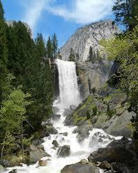 Vernal Fall At Yosemite National Park California