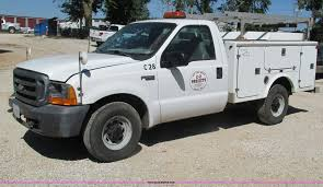 100 Ford F250 Utility Truck 1999 Super Duty Utility Truck Item G9445 SOLD
