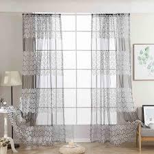 2 pcs vorhänge für wohnzimmer tüll tür fenster vorhang drapieren panel sheer schal schabracken voilage blanc fenetre l0810
