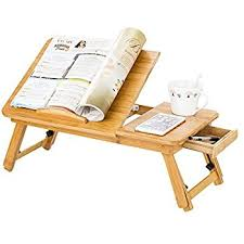 Zipom  Portable Bamboo Laptop Stand Foldable Desk Amazon