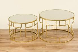 2 x couchtisch beistell tisch wohnzimmer goldenem metall